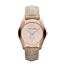 Nuevo AR1670 Oro Rosa Señoras EMPORIO ARMANI velente Reloj - 2 Año De Garantía