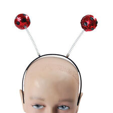 LADYBIRD RED SEQUIN ANTENNAE ON HEADBAND FANCY DRESS COSTUME ACCESSORY
