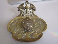 Antique Art Nouveau Bronze Satyr Inkwell, Geschutzt marked