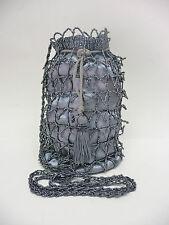 Borsa donna pochette tracolla modello charleston lavorata e decorata con perline