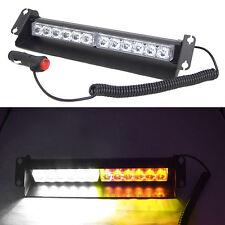 12 LED Car Warning Emergency Strobe Flash light front rear window Amber/White