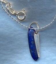 Collana con ciondolo in lapislazzuli e argento 925