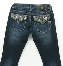 Miss Me BOOT Stretch women's jeans Embellished Flap Pockets size 25 inseam 28