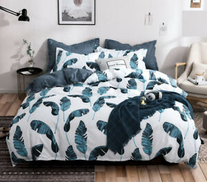 Leaves Duvet/Doona/Quilt Cover Set - Queen/King/Super King Size Bed New M390