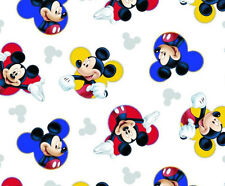MICKEY MOUSE - Iconic Mickey on White- Cotton - Quilting Fabric - per FQ