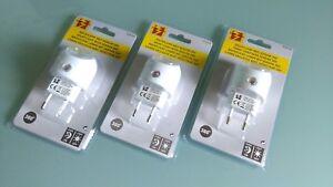 3 x Nachtlicht mit Dämmerungsautomatik Nachtlampe mit LED Orientierungslicht !