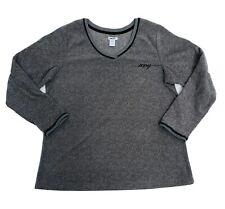 DKNY Sweater Men LG Long Sleeve V Neck Pullover Striped lightweight fleece soft