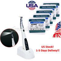 LED Endo Motor Cordless 16:1 Handpiece Dental + 5 pcs Endo Motor Rotary Files