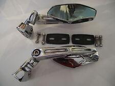 Fairing mount mirrors chrome universal alloy mirrors multi adjustable 037
