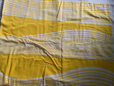 Vintage 1970s Designer Fabric K Yellow Wavy MOD Striped Be achy Retro