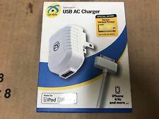 Symtek  USB AC Charger IPhone 4/4s IPod White