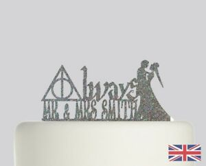 Harry Potter Wedding Always Personalised Cake topper Acrylic Glitter cake. 339