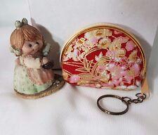 Key chain Coin Purse Small Bag Zipper Lady Girl Retro Key Holder Souvenir Gift