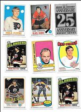 1992-93 O-pee-Chee 25th Anniversary 18 card lot Tony Esposito, Mark Messier, Roy