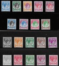 Malaya Penang Scott #3-14 & 16-22, Singles 1949-52 FVF MH
