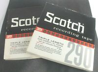 Two Scotch 290 Reel To Reel Recording Tapes Triple Length 3600 Feet 7 Inch Reel
