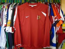 MK DONS NIKE  LONG SLEEVED FOOTBALL SOCCER TRAINING SHIRT JERSEY TOP LARGE