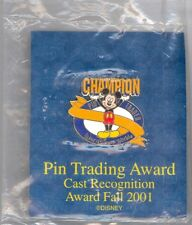 Walt Disney World Mickey Mouse Champion Cast Award Pin Trading Fall 2001 Sealed