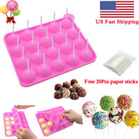 Silicone Lolly Cake Pop Mold Choclate Cake Baking Mould With 20 Free Sticks Kit