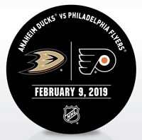 Philadelphia Flyers Issued Unused Warm Up Puck 2/9/19 Vs Anaheim Ducks
