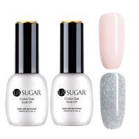 UR SUGAR 2 Bottles 15ml Nagel Gellack Nail Art UV Gel Polish Nagellack Gel UV