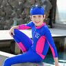Kids Girls One-Piece Swimsuit Long Sleeve Swimwear Surf Jumpsuit Swim Costume
