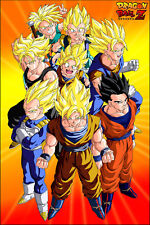 Dragon Ball Z Poster The Saiyans Goku Vegeta Gohan12in x 18in Free Shipping