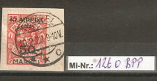 Memelgebiet Mi-Nr.: 126 sauber auf Briefstück BPP geprüft