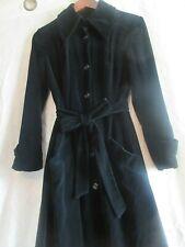 Vintage Union Made Black Velvet Gothic Trench Opera Bow Coat S
