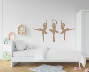 3 X ballerina wall sticker girls boys bedroom childrens