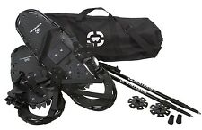 Winterial 26'' Black All Terrain Sports Snowshoes + Walking Poles + Carrying Bag