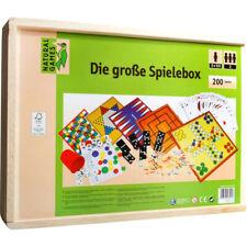 Spielesammlung Die große Spielebox Natural Games in Holzbox - 200 Spiele