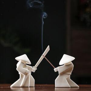 Incense Burner Samurai Incense Stick Holder Censer Decoration Collectible