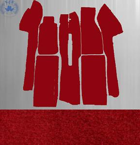 Carpet Set Carpet for Fiat X 1/9 Year 1972-1989 Velour Dark Red New