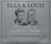 ELLA FITZGERALD LOUIS ARMSTRONG - THE PLATINUM COLLECTION - 3 CDS - NEW!!
