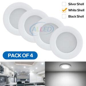 4X12V LED Recessed Down Light Caravan Camper Trailer RV Dome Cabinet Lamp Cool W