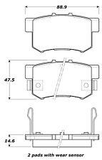 Disc Brake Pad Set-EX Rear,Front Stoptech 308.05370