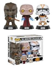 exclusivo Star Wars 3 Pack 9.5cm POP Vinyl Funko tarfull,emperador,UTAPAU CLONE