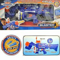 Super Blaster Nerf Style Rapid Fire Gun 40 Soft Darts Bullets Safety Glasses Toy