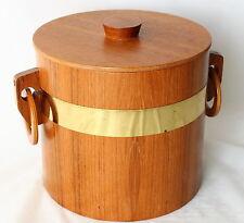 Vintage TEAK Wood ICE BUCKET RETRO! Mad Men