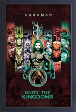 AQUAMAN UNITE THE KINGDOMS 13x19 FRAMED GELCOAT POSTER SUPERHERO DC COMICS GIFT!