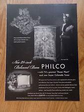 1952 Philco TV Television Ad  Model 2258 Colorado Tuner