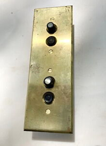 1920's PUSH BUTTON RARE OVER UNDER SWITCHES WORKING WITH BRASS FACEPLATE