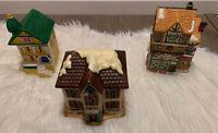 VTG Set Of 3 Village Houses Dickens, Geo Z. Lefton...!
