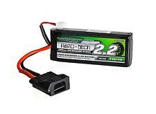 Turnigy Nano-Tech 2200mAh 2S 30C Lipo Battery Flat Plug Traxxas EREVO TRX VXL