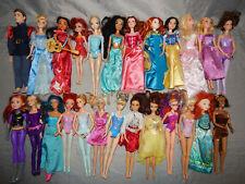 25 used dolls Bulk Variety Lot barbie disney mattel hasbro dressed clothes