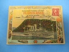 Vintage Souvenir Postcard Folder 1928 Hudson River New York S536