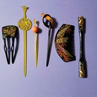 Japanese antique Kanzashi hair accessories Kanzashi 6 set