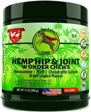 WonderPet Care Hemp Hip & Joint Supplement for Dogs Chondroitin Glucosamine MSM
