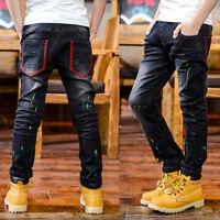 Kids Boys Clothing Long Pants Child Boy Denim Jeans Trousers Bottoms Size 5-11T